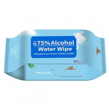 100pcs antiseptic disinfectant cleaning 75%alcohol hand wet wipes