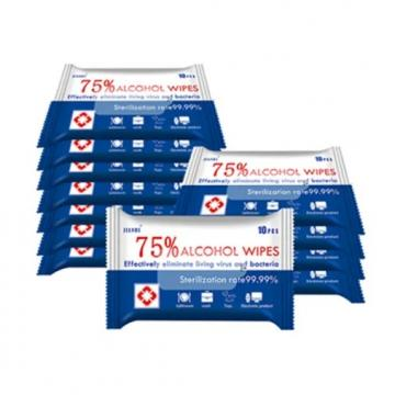 OEM Organic/Cleaning/Disinfectant/Antiseptic/Sanitizing 75% Alcohol Hand Sanitizer Wet Wipes for Personal Care/Hospital/Household/School/Public Place