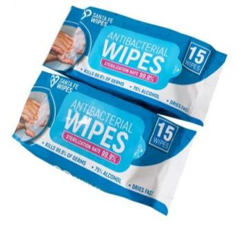China Factory 80PCS 75% Alcohol Portable Cleaning Wet Wipes Disinfectant Wipes Antibacterial Sterilizing Wipes