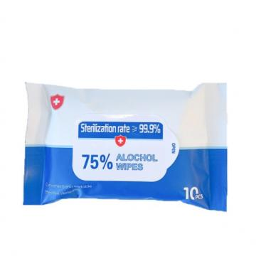 China Wholesale Custom 75% Alcohol Disinfecting Antibacterial Disposable Ethanol Alcohol Swabs Wipes with English Label