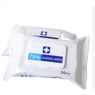 FDA CE Ndc Certified Antibacterial Wipe Sanitizing Wet Tissue Disinfectant Cleaning Towel Human Skin Use Advanced 75% Alcohol Hand Sanitizer Wipes
