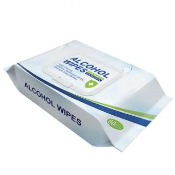 OEM Canister Alcohol Antibacterial Wipes Wet Wipe Tissue Disinfectant Nonwoven Hand Cleaning Wet Wipes