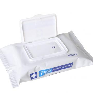 Customized Individual Packing Antibacterial Tissue Alcohol Wet Wipes Household Protective Cleaning Wet Tissue Antibacterial Canister Disinfectant
